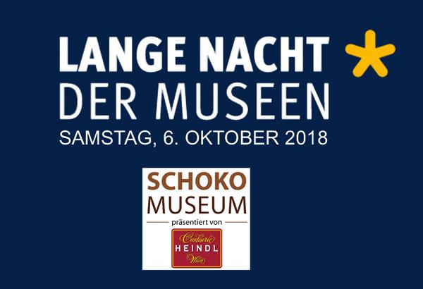 Banner Website Lange Nacht der Museen 2018 Schokomuseum wien