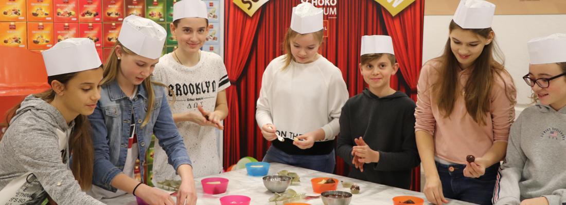 Pralinen Workshop für Schulen, Schulklassen und Klassenfahrten im SchokoMuseum