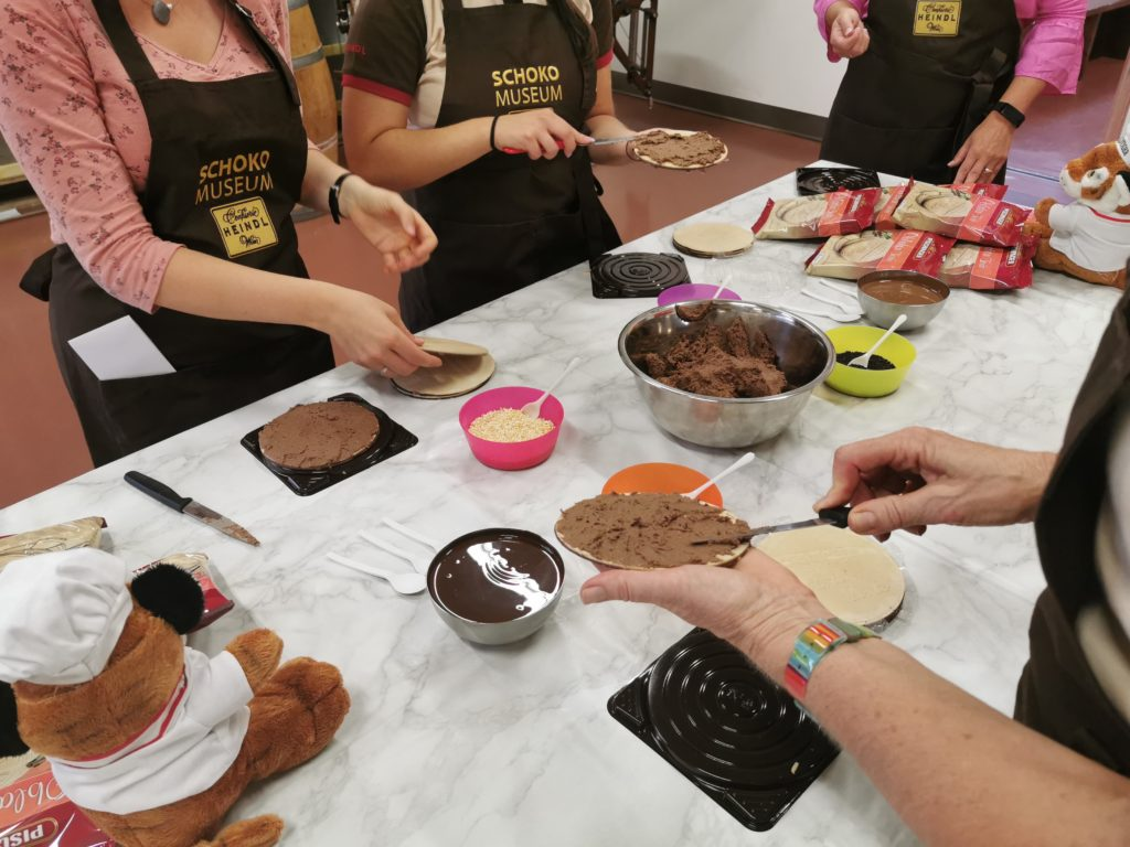 Pischinger-Torte Workshops im Schokomuseum